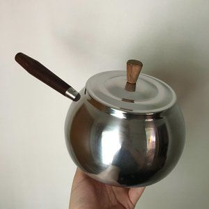 Mid Century Stainless Steel Pot with Lid